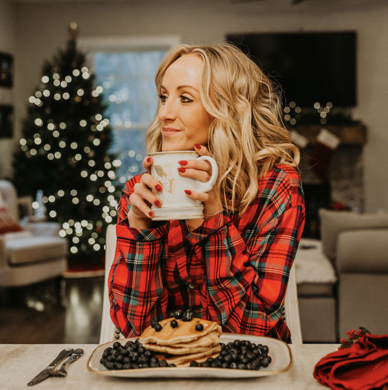 Nastia Liukin Blueberries Holiday